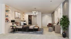 Modern bedroom design visualisation