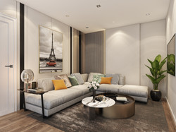 lounge with modern lux design