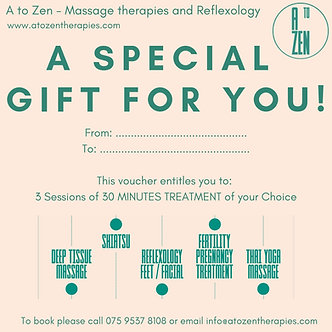 Gift Voucher - 3 Sessions of 30 minutes