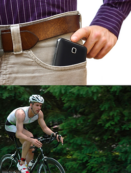 male-infertility-causes-cycling-man-with-mobile-in-pocket