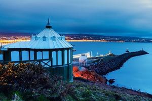 Panorama of Douglas on the Isle of Man.