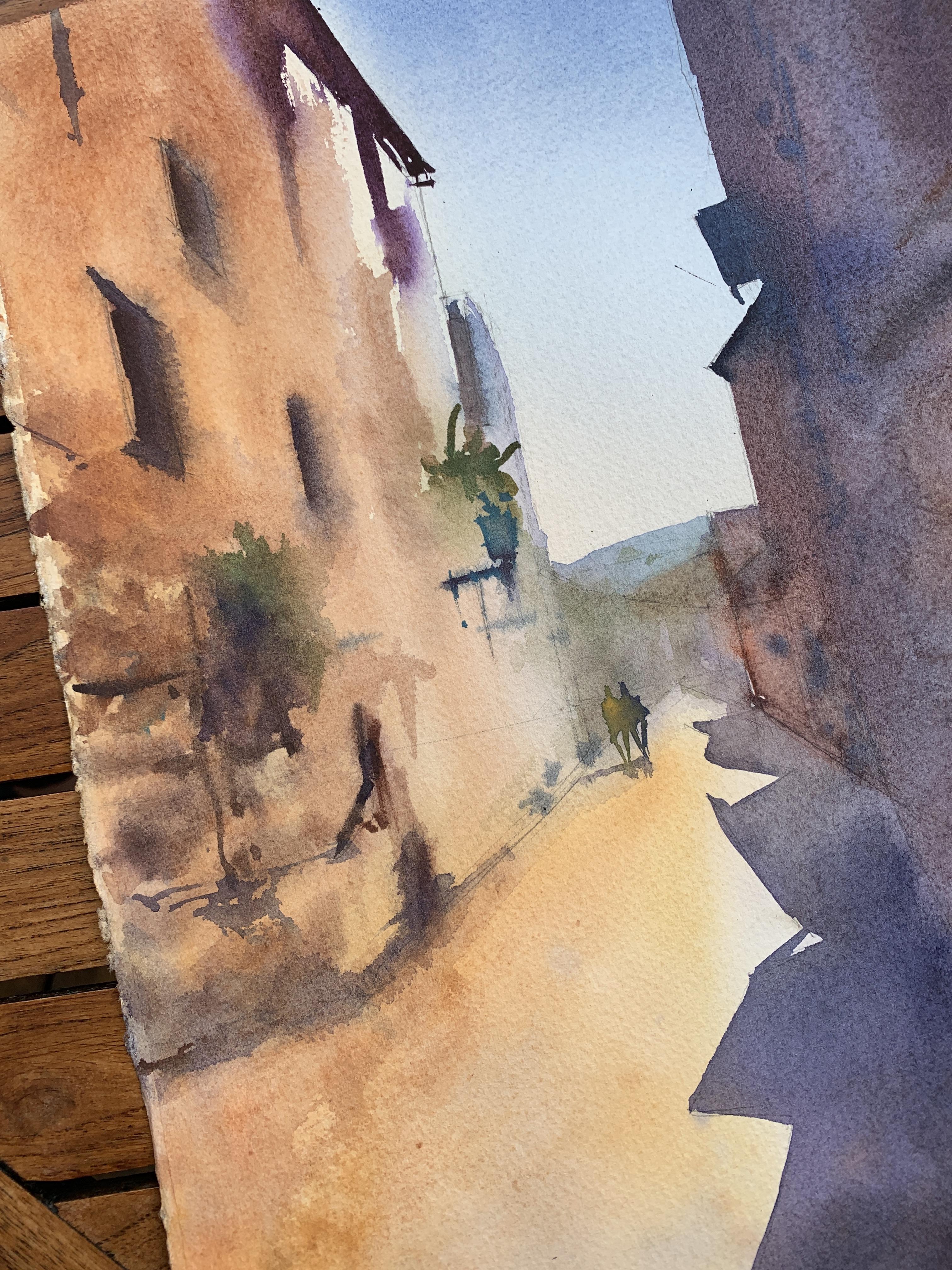 Итальянский пейзаж акварелью Панова