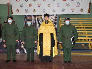 Настоятель принял участие в церемонии приведения к присяге новобранцев.