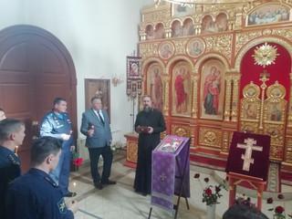Настоятель храма иерей Владимир Новиков встретился с офицерами авиабазы.