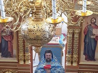 Божественная Литургия в праздник Благовещения Пресвятой Богородицы.