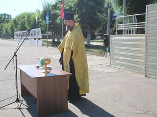 Настоятель храма принял участие в церемонии приведения к присяге новобранцев.