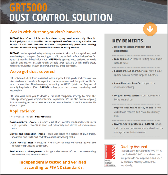 Sick of Dust and Erosion?