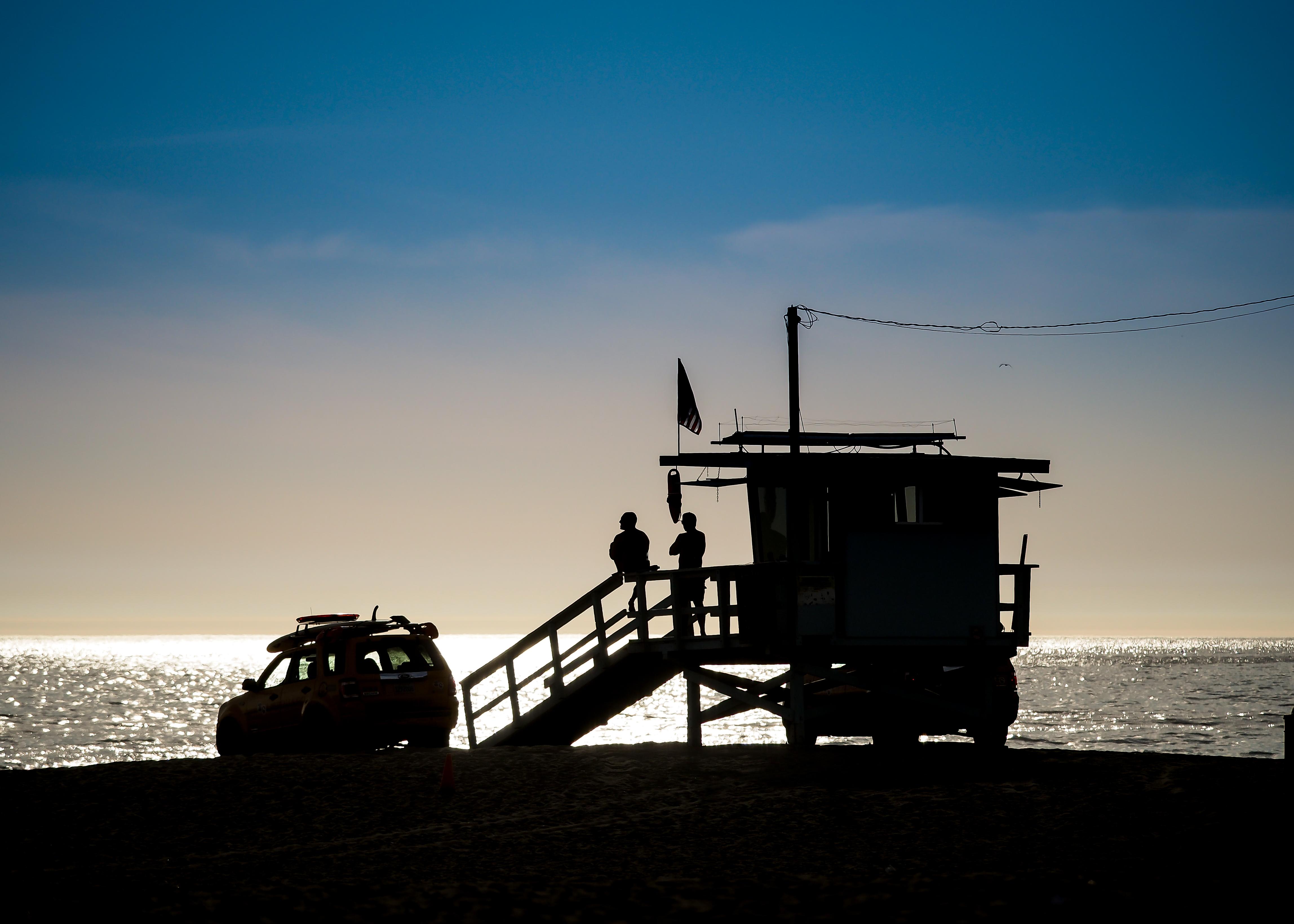 Venice Beach Silhouette