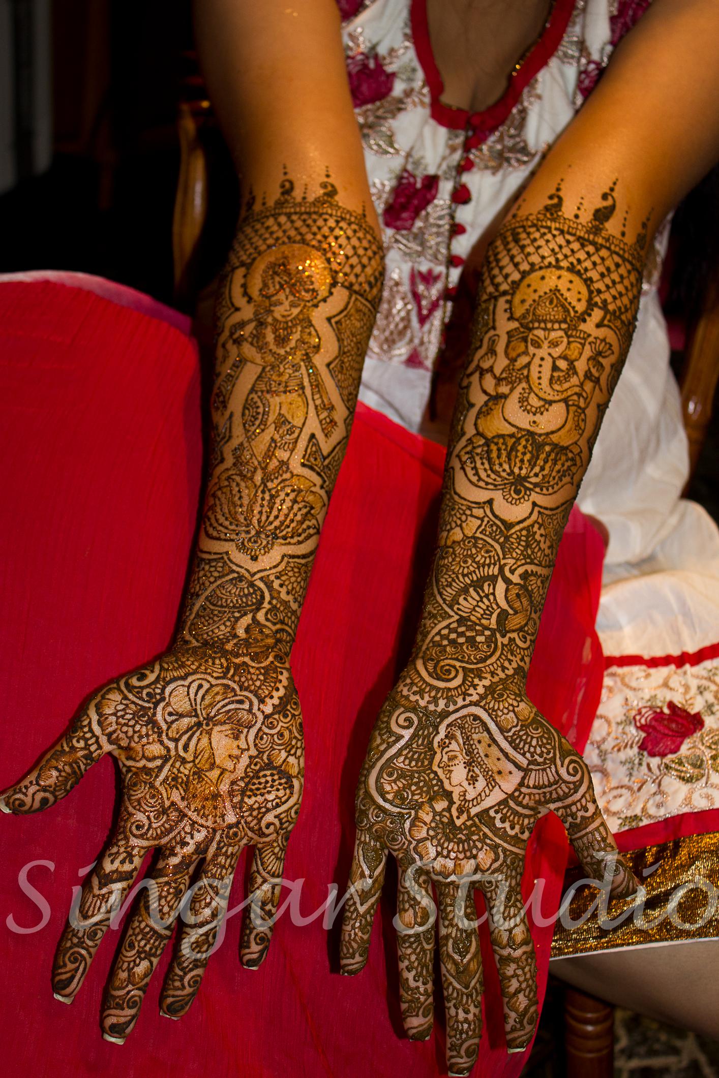 Bridal Mehndi Krishna Ganesh
