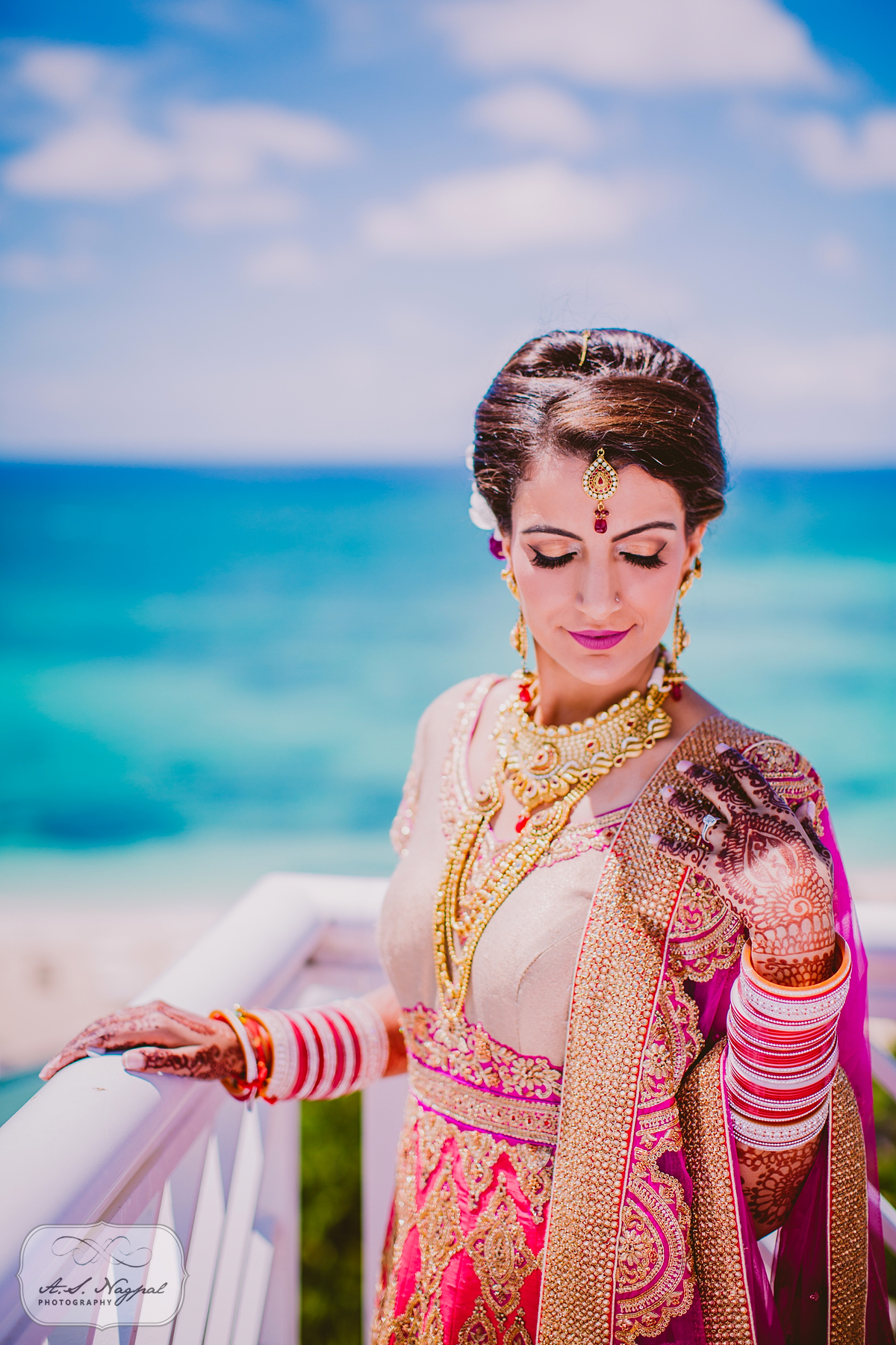 Bahamas Punjabi Wedding Makeup Look