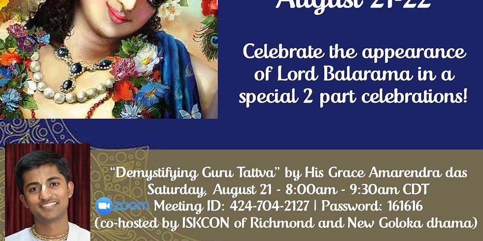 Balaram Jayanti Celebration Weekend