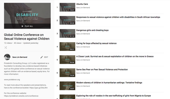 GLOBAL ONLINE CONFERENCE VIDEOS