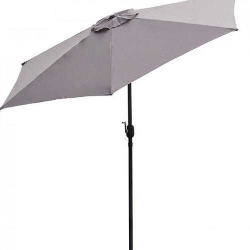 Panama Jack Grey 9 Ft Alum Patio Umbrella W/Crank