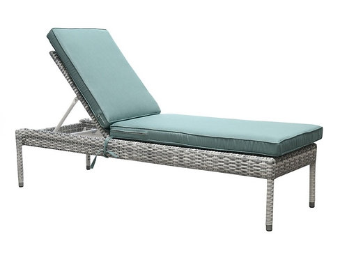 South Beach Outdoor Wicker Chaise Lounge