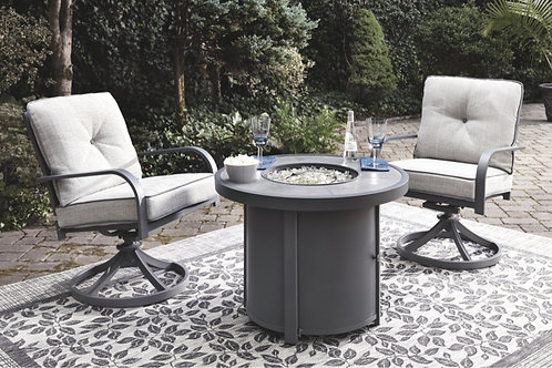 """Donnalee Bay 32"""" Round Fire Pit Seating Set"""