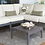 Thumbnail: Poolside Acacia Wood Sectional 6 Pc Seating Set with choice of Sunbrella Fabric