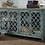 Thumbnail: Blue Coastal Chic Accent Cabinet with Glass Doors