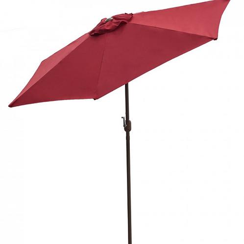 Panama Jack Red 9 Ft Alum Patio Umbrella W/Crank
