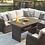 Thumbnail: Isle 5-Piece Outdoor Sofa Sectional with Chair and Cushion