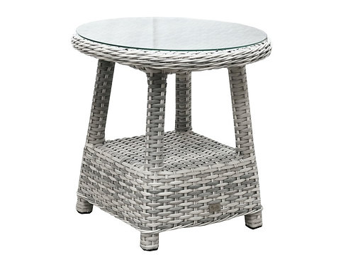 South Beach Outdoor Wicker Lamp Side Table