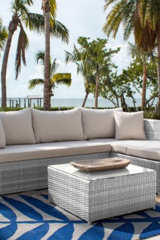 Santorini 3 Pc Sofa Sectional Set With Cushion
