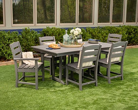 POLYWOOD OUTDOOR DINING TABLE AND CHAIRS