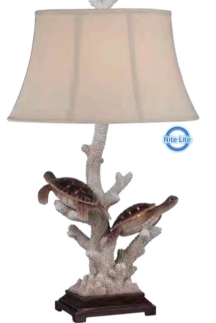 Pair of Turtles Night Light Table Lamp