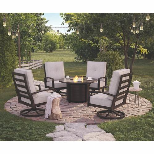 Castle Island Aluminum Swivel Lounge Chair