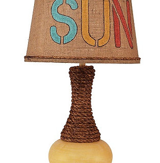 "Weathered Yellow Gold ""SUN"" Table Lamp"