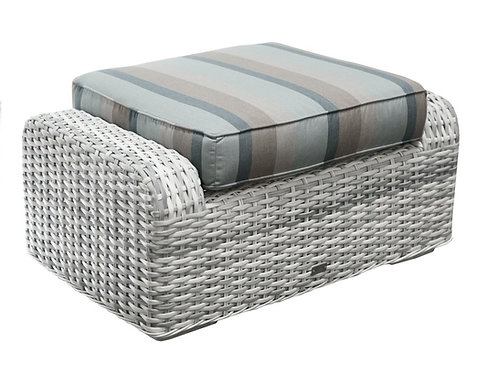 South Beach Outdoor Wicker Ottoman