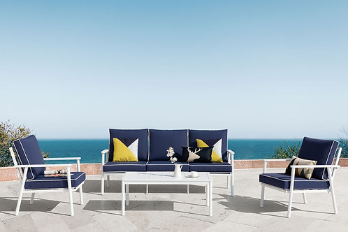 BlueBell 4-Piece Aluminum Sofa Set