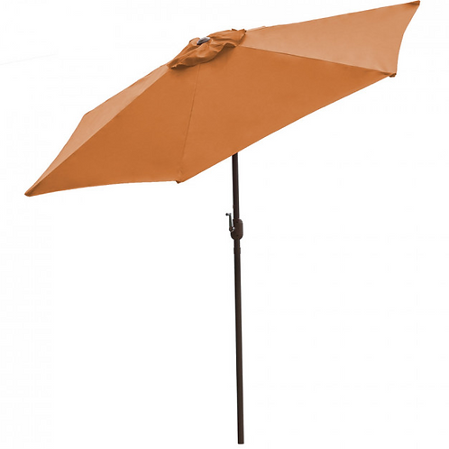 Panama Jack Orange 9 Ft Alum Patio Umbrella W/Crank