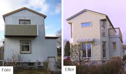 Före och efter tillbyggnad