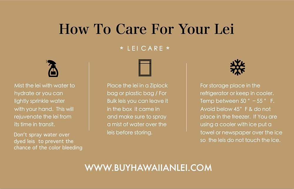 How to Care For Your Lei