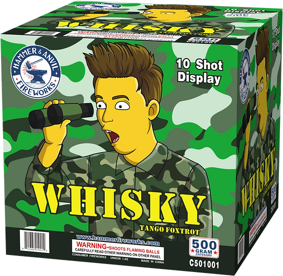 WHISKY 10 SHOT (WTF 500G ASSORTMENT)