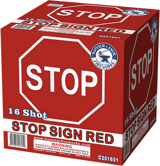 STOP SIGN RED 16 SHOT