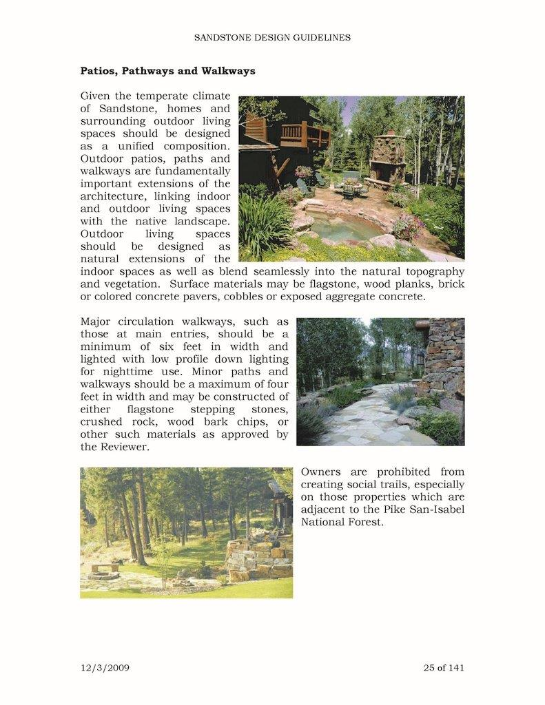 Sandstone Guidelines - Larkspur, CO
