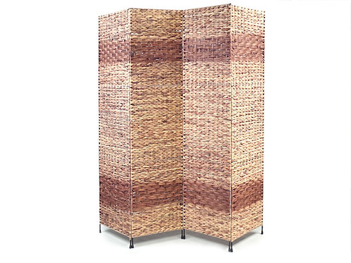 Jakarta-B Folding Screen, 4 panels made of natural Water Hyacinth plant