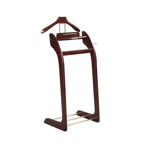 "Clothes Valet Stands Personal Suit Stand  ""The Manager"" - Dark Walnut"