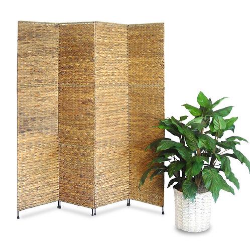 Jakarta Folding Screen w/ Water Hyacinth Deocoration