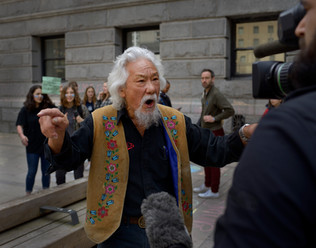 Dr. David Suzuki made an emotional speech at the Vancouver school strike for climate action. Dr. Suzuki is a scientist, broadcaster, author, and co-founder of the David Suzuki Foundation. Vancouver, May 2019