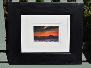 Edinburgh sunset 1 oil artwork - code 1