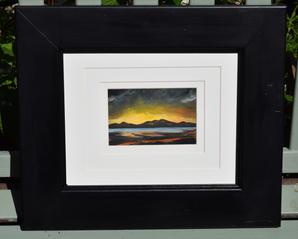 Edinburgh sunset 2 oil painting - code 2