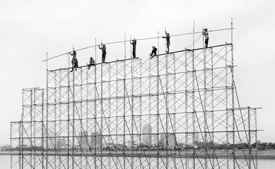 'Scaffolders Cambodia' by Vittorio Silvestri - Accepted