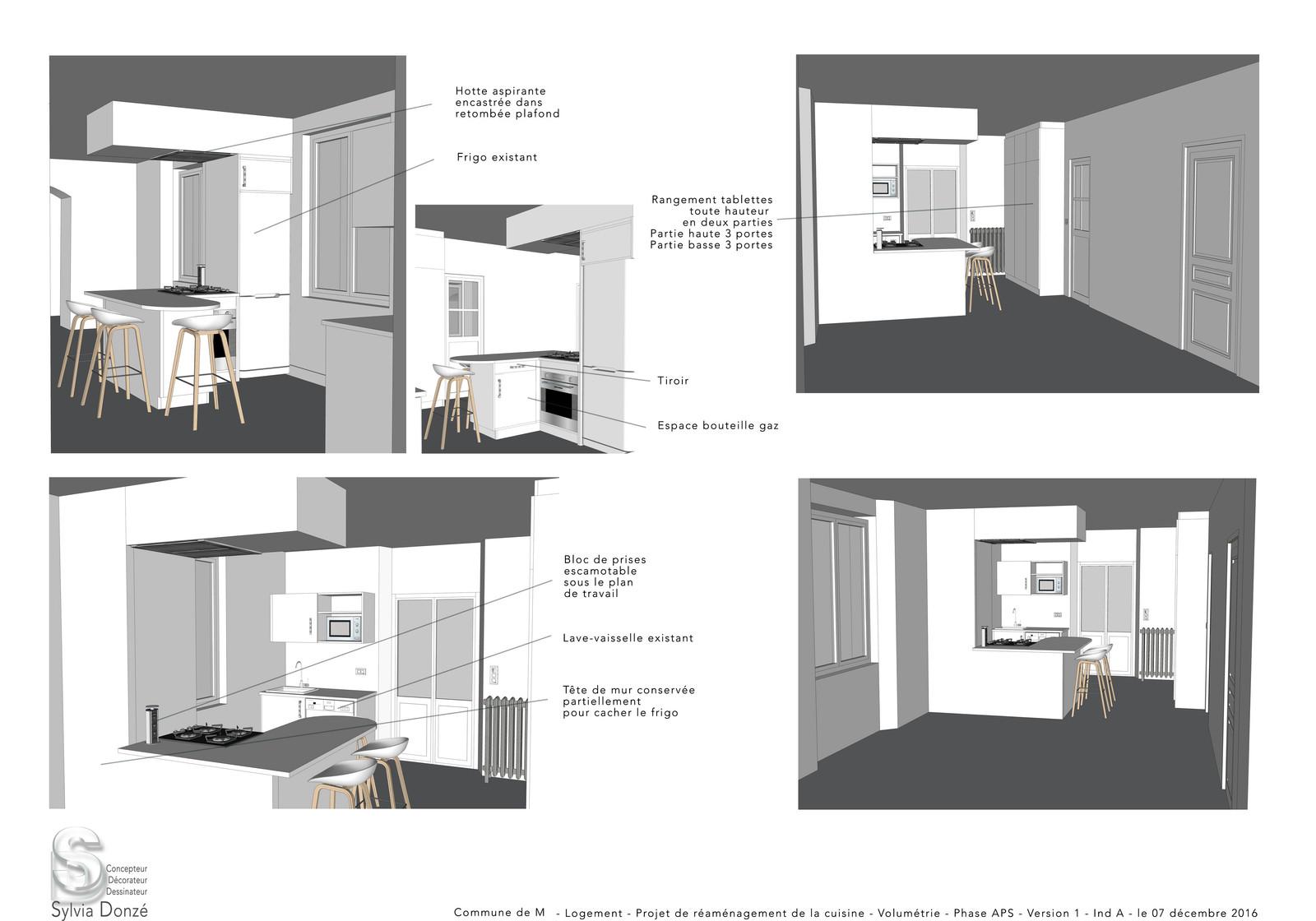 Hauteur De Hotte Pour Gaz projet d'aménagement d'une cuisine pour un logement communal