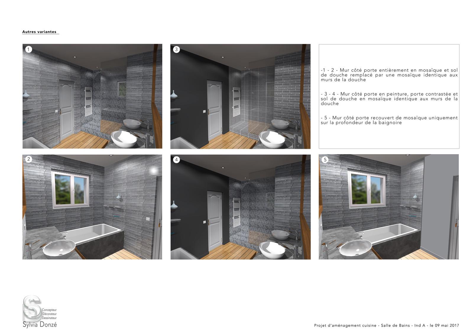 Peindre 2 Murs Sur 4 salle de bains