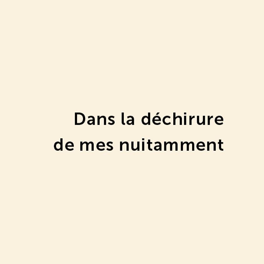 Dans la déchirure de mes nuitamment - Jean-Marc Collet - Recueil de poésie