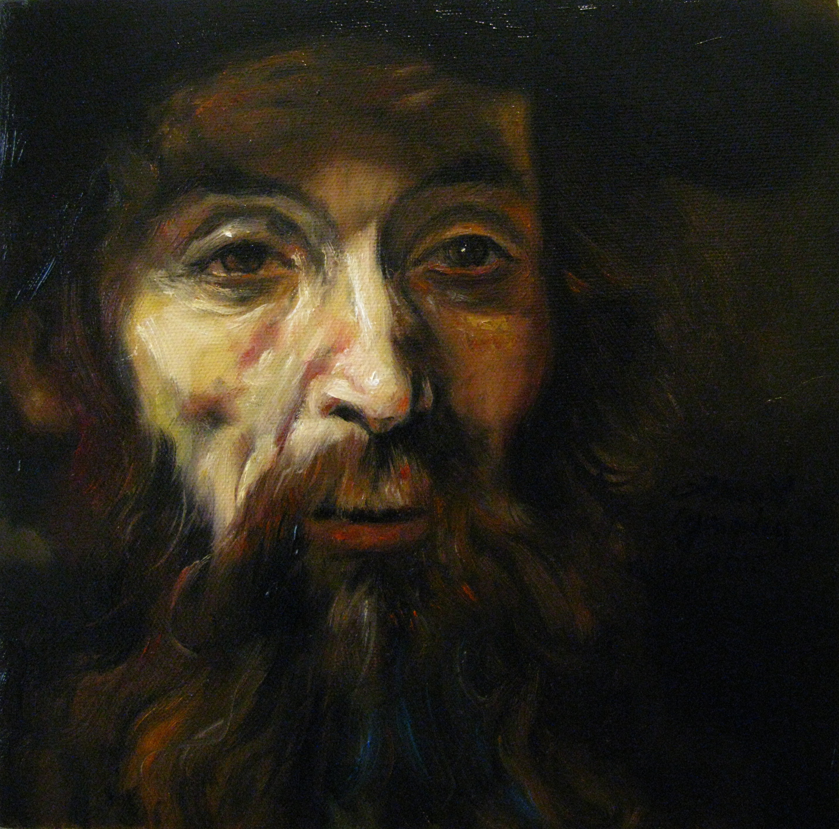 Bearded Man after Rembrandt