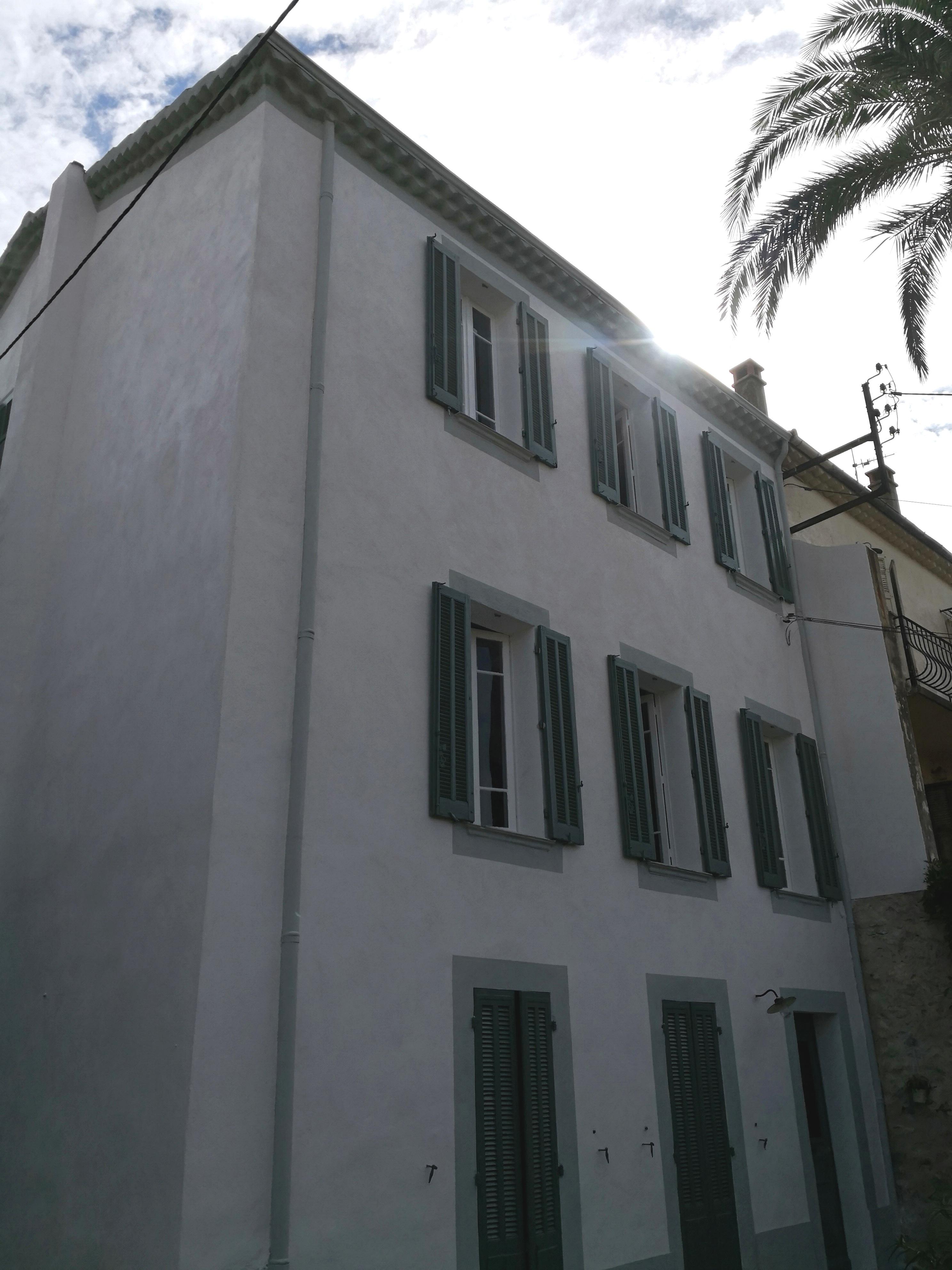 Rénovation façade demeure 1900