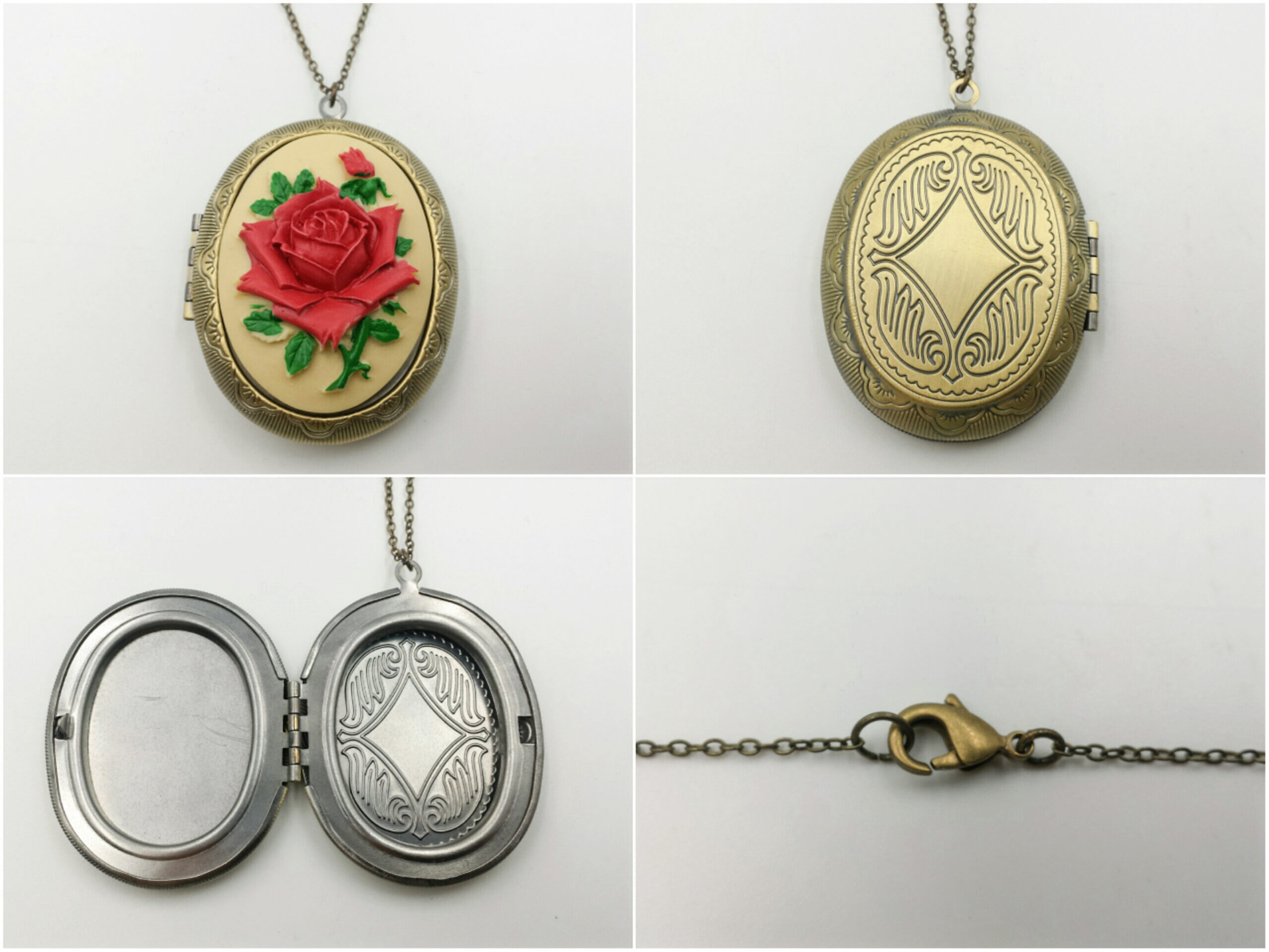 product in locket yellow gold oval lockets antique victorian home necklace large
